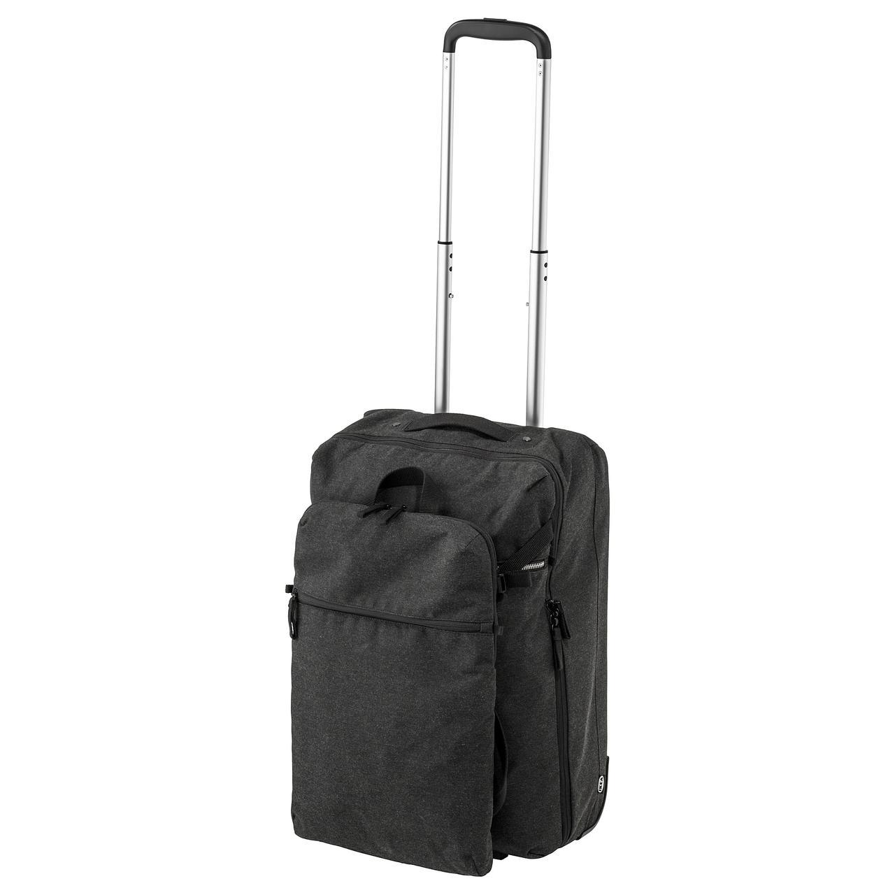ФОРЕНКЛА Сумка на колесиках и рюкзак, темно-серый