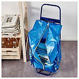 ФРАКТА Тележка с сумкой, синий, фото 3