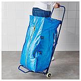 ФРАКТА Тележка с сумкой, синий, фото 4