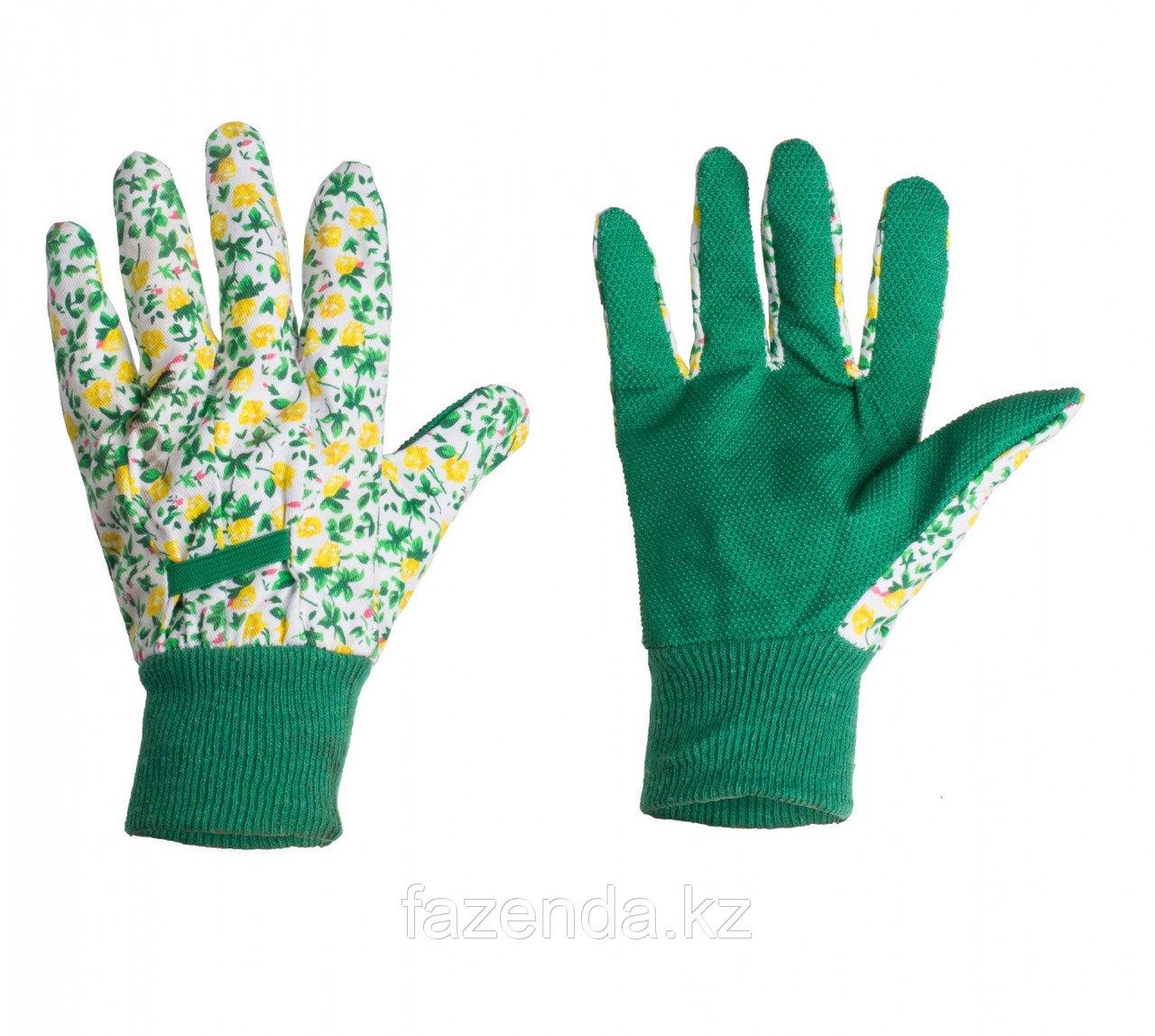 Перчатки садовые с ПВХ покрытием