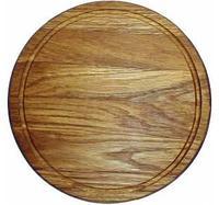 Доска для подачи блюд ,массив дуба.D-40 см /H- 2 см