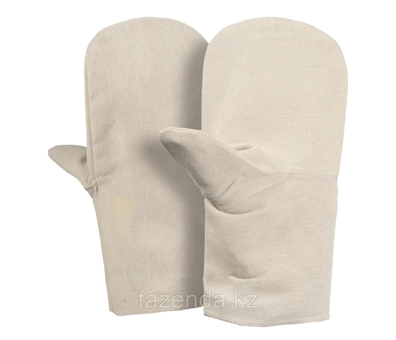 Рабочие рукавицы х/б, плотные