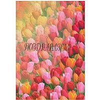 Папка адресная А4_Поздравляем Тюльпаны глянец
