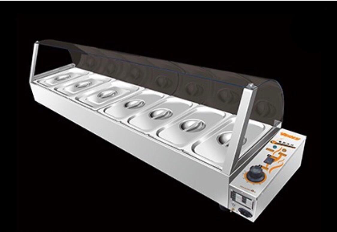 Электрический мармит для линий раздачи (7 емкостей)