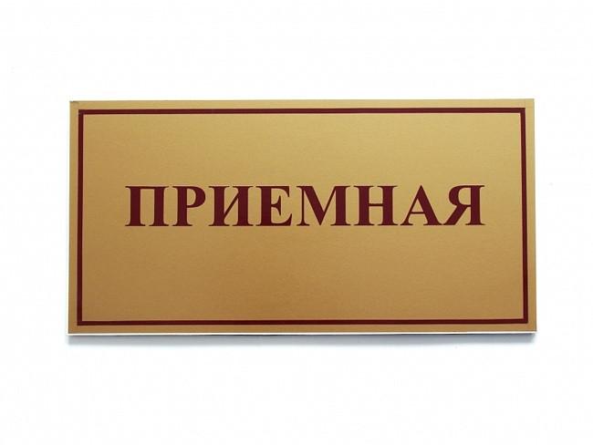 Табличка руководителя на дверь по индивидуальному заказу
