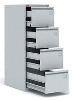 Шкаф картотечный металлический (картотека) для хранения документов КР-4, 4 ящика