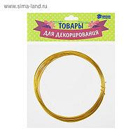 Проволока алюминиевая для поделок и декорирования, 5 м, d=1 мм, цвет золотистый