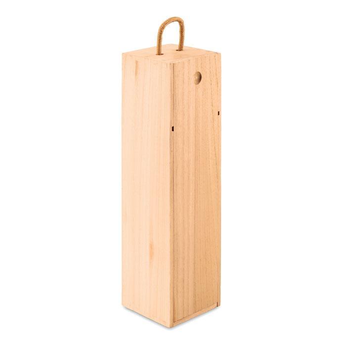Деревянная винная коробка с ручкой, VINBOX