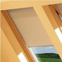 Шторы на мансардные окна Fakro 114х118 цвет бежевый, фото 1