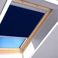 Шторы на мансардные окна Fakro 55х78 цвет синий, фото 1