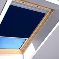Шторы на мансардные окна Fakro 66х98 цвет синий, фото 1