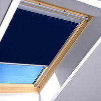 Шторы на мансардные окна Fakro 78х118 цвет синий, фото 1