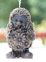 Свеча « Ёжик с цветами»