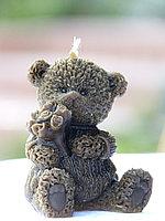 Свеча «Медвежонок с букетом»