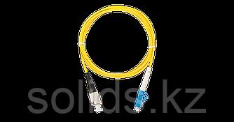 Шнур оптический FC/UPC-LC/UPC одинарный LSZH 2мм, желтый, 1м