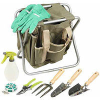 Скамейка GRINDA садовая складная, двухсторонняя, с сумкой и набором инструментов, 7предметов
