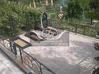 Благоустройство мест захоронений тротуарной плиткой в г. Алматы и Алматинской области