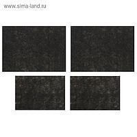 Коврики влаговпитывающие AVS VK-03, 50х38 см, 25х38 см, набор 4 шт