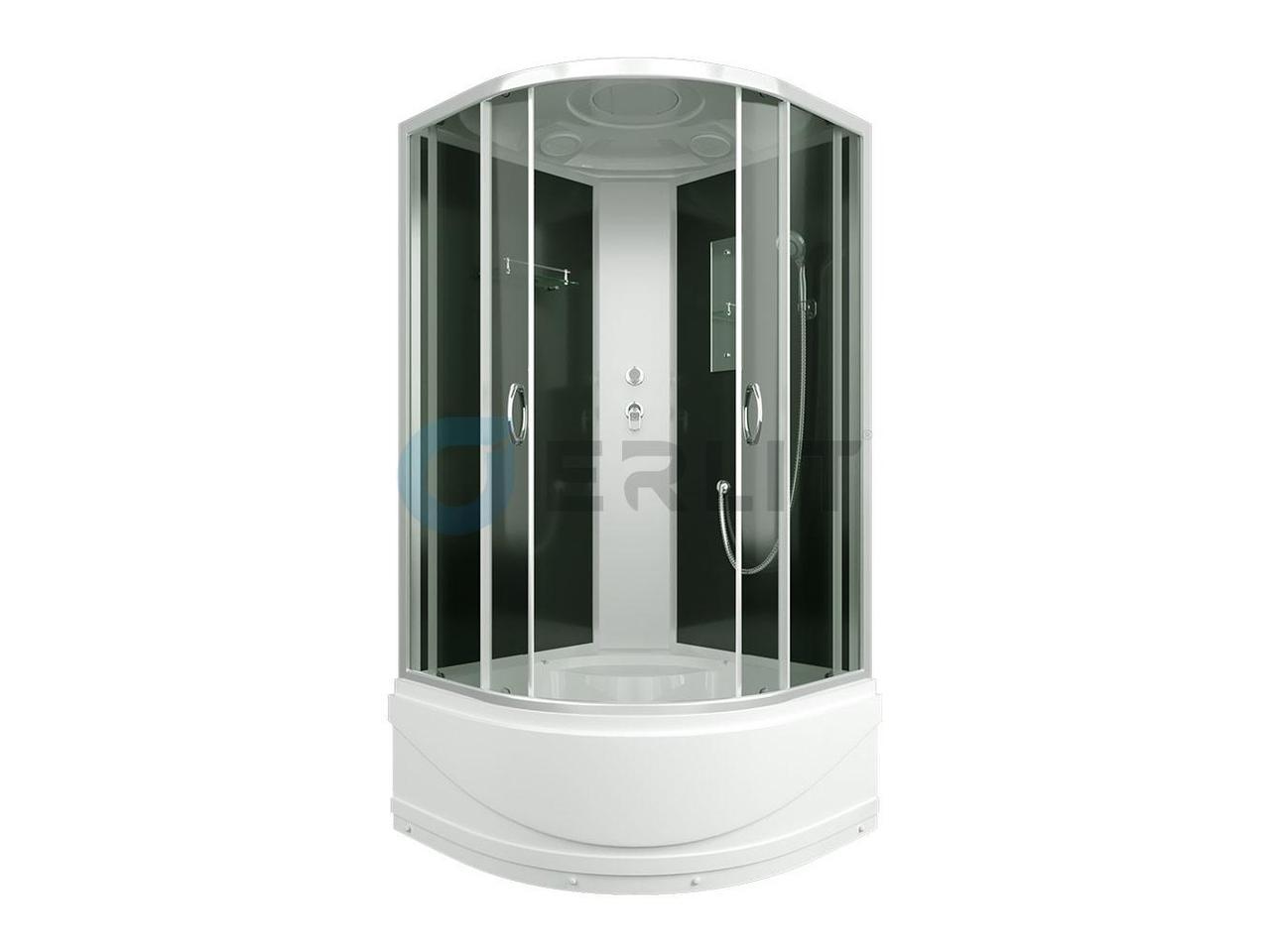 Душевая кабина Erlit ER3508TP-С4, 80х80 см, С высоким поддоном. Тонированное стекло.