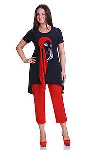 Костюм Andrea Style-1111, сине-красный, 46