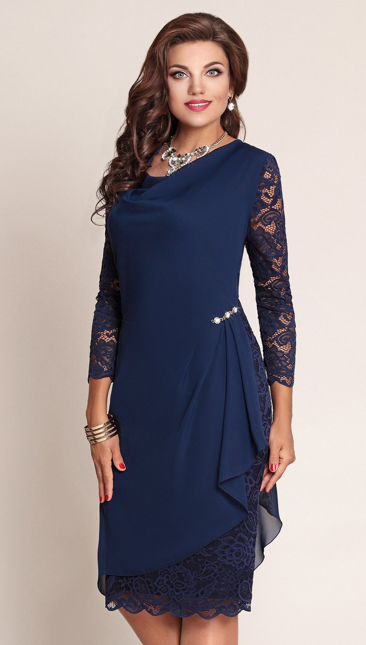 Платье Vittoria Queen-2043/2, темно-синий, 54