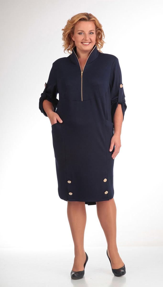 Платье Pretty-473, темно-синий, 50