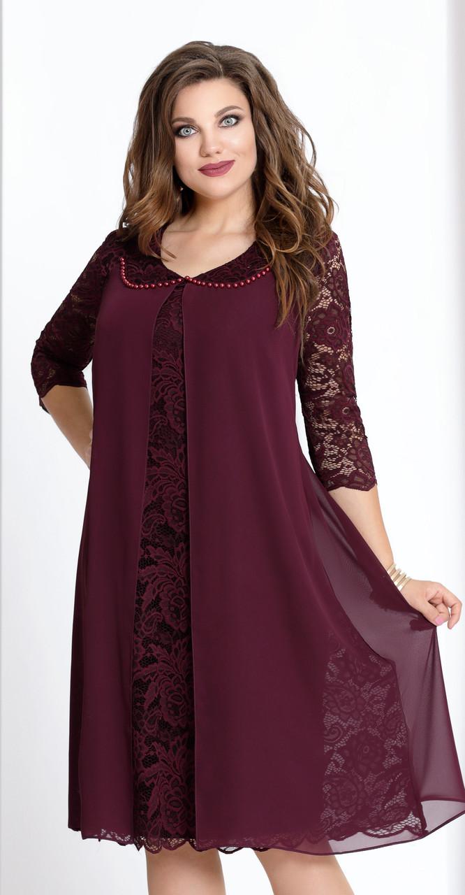 Платье Vittoria Queen-943/6, бордо, 56