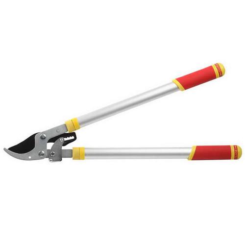 Сучкорез GRINDA с тефлоновым покрытием, алюминиевые ручки, двухрычажный храповый механизм, 700-980мм
