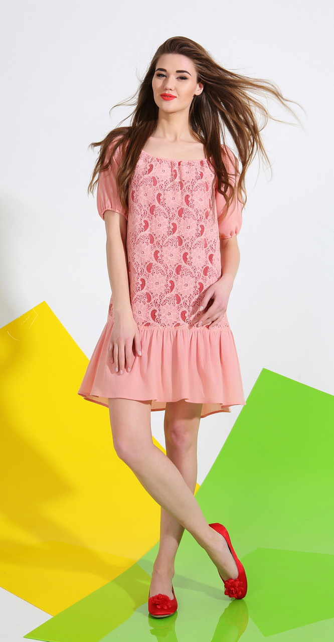 Платье La Kona-1017, персик, 42