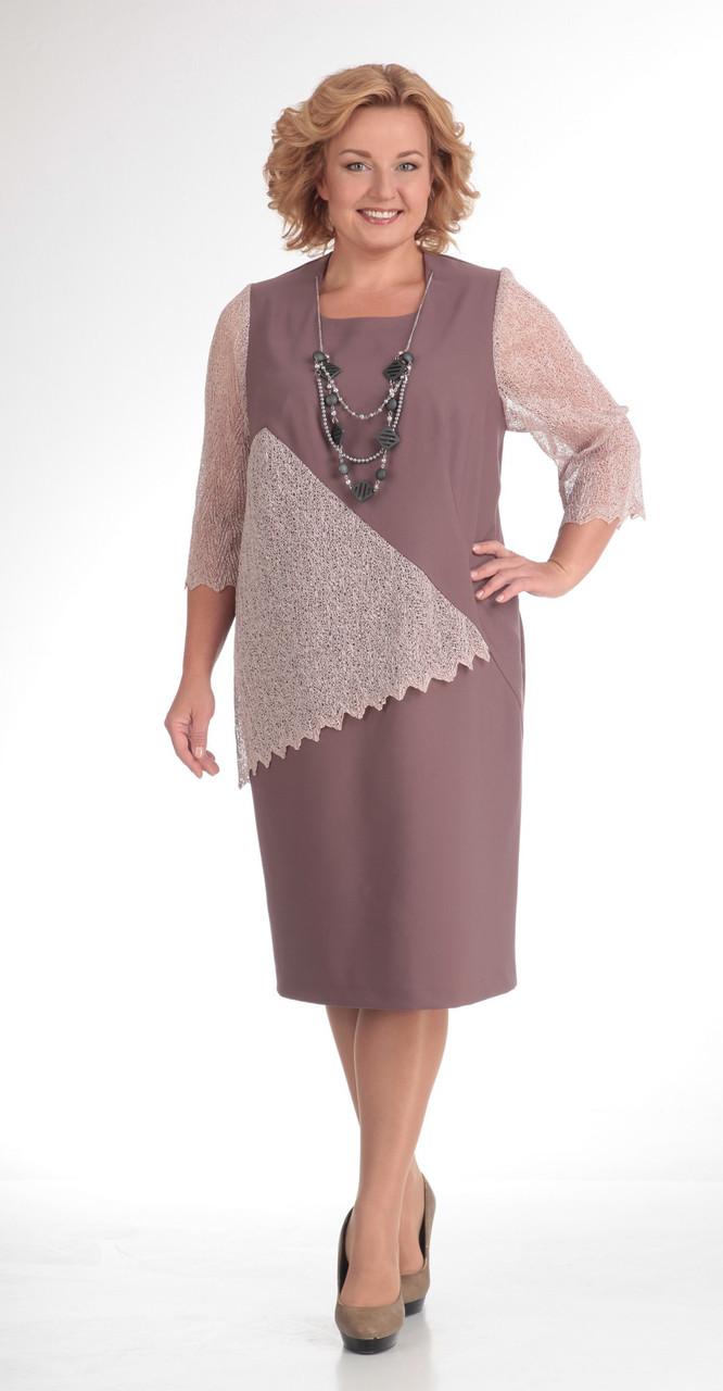 Платье Novella Sharm-2667, бежевые тона, 58