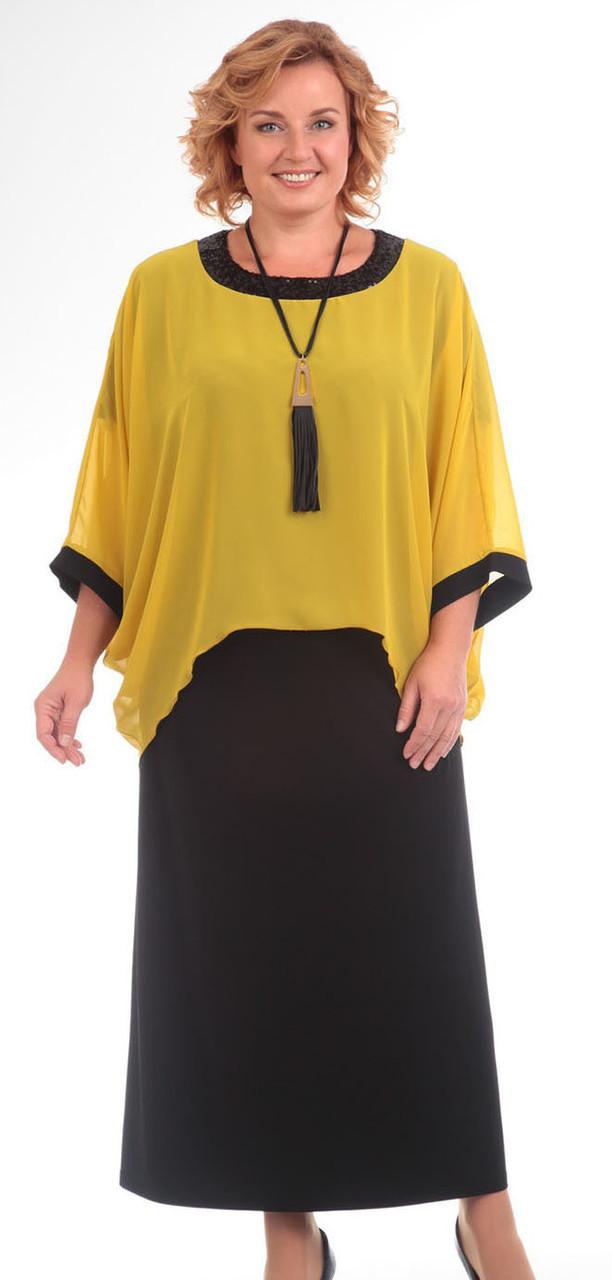 Платье Pretty-571, желтый, 56