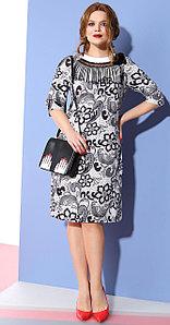 Платье Anna Majewska-994, черно-белый, 52