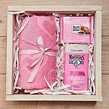 Наполнитель бумажный ровный и гофрированный Розовый, фото 8