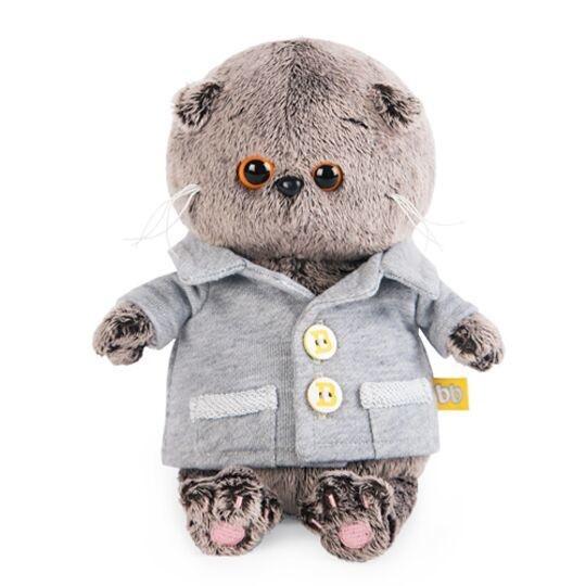 """Мягкая игрушка """"Басик Baby"""" в сером пиджачке, 20 см"""