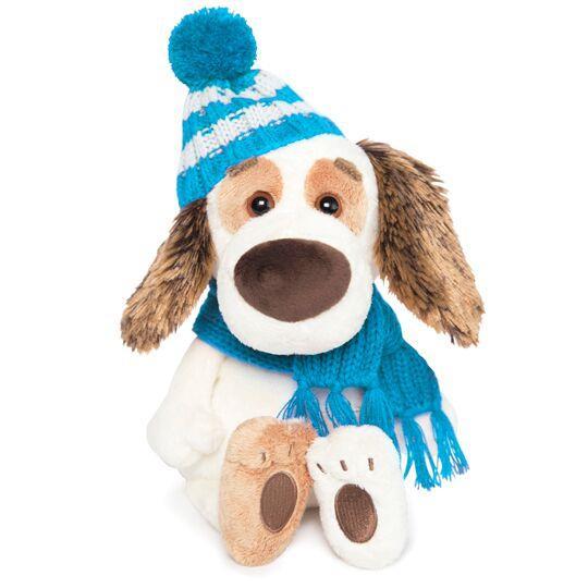 """Мягкая игрушка """"Бартоломей Baby"""" в шапочке и шарфе, 20 см"""
