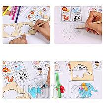 Детский набор для творчества — Трафареты (56 трафаретов), фото 3