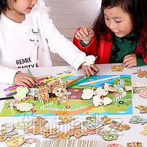 Детский набор для творчества — Трафареты и 3D пазл (47 трафаретов), фото 3