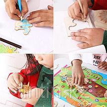 Детский набор для творчества — Трафареты и 3D пазл (47 трафаретов), фото 2