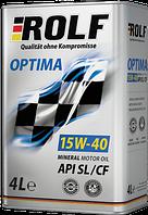 Моторное масло ROLF OPTIMA 15W-40  4литра