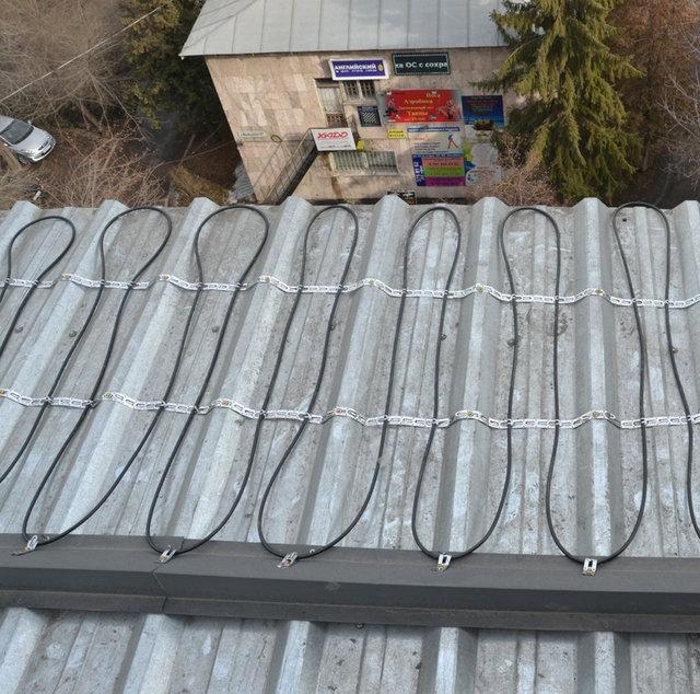 Обогрев крыши в г.Алматы - расчетная мощность системы 250Вт на м2 кровли.