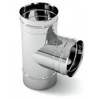 Тройник 90 градусов  для дымохода из нержавеющей стали d-200 мм.0,5 мм. Sferra.  Уфа., фото 1