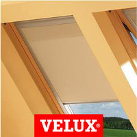 Шторы на мансардные окна Velux 55х98 цвет бежевый, фото 1
