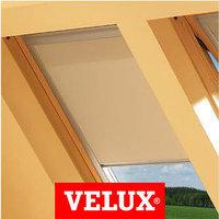 Шторы на мансардные окна Velux 78х98 цвет бежевый, фото 1