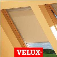 Шторы на мансардные окна Velux 78х140 цвет бежевый, фото 1