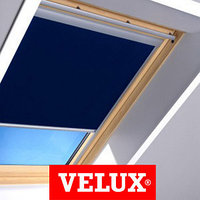 Шторы на мансардные окна VELUX 114х118 цвет синий, фото 1