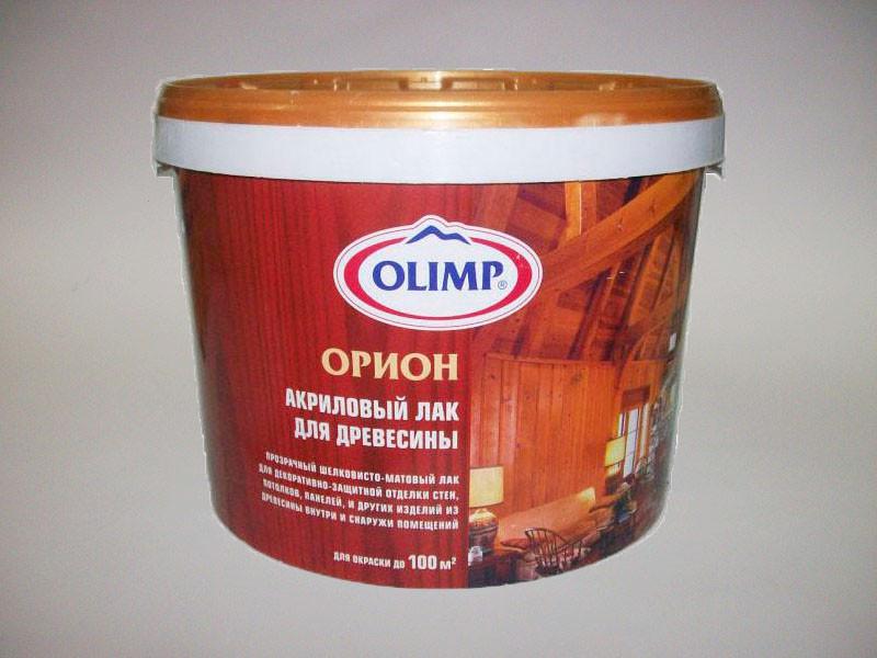 """Лак водный для древисины """"Olimp"""" 1л"""