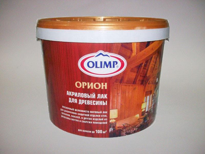 """Лак водный для древисины """"Olimp"""" 2,5л"""