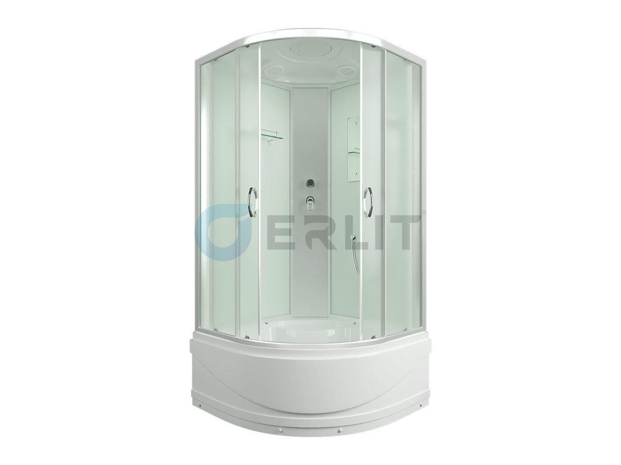 Душевая кабина Erlit ER3508TP-С3, 80х80 см, с высоким поддоном, матовое стекло.