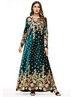 Длинное платье янтарный бархат