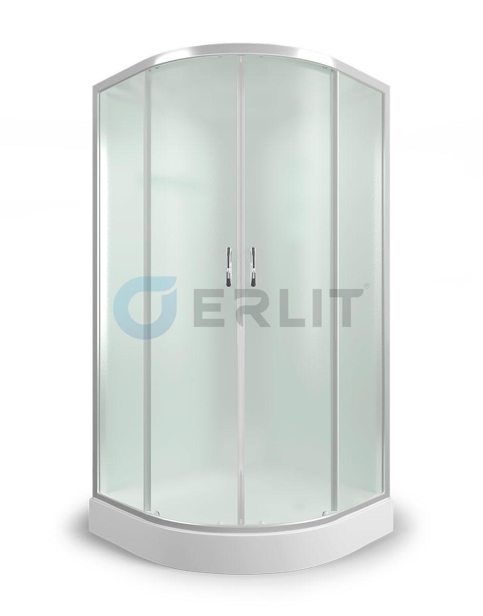 Душевая кабина Erlit ER3508P-C4, 80х80 см, с низким поддоном, с матовым стеклом